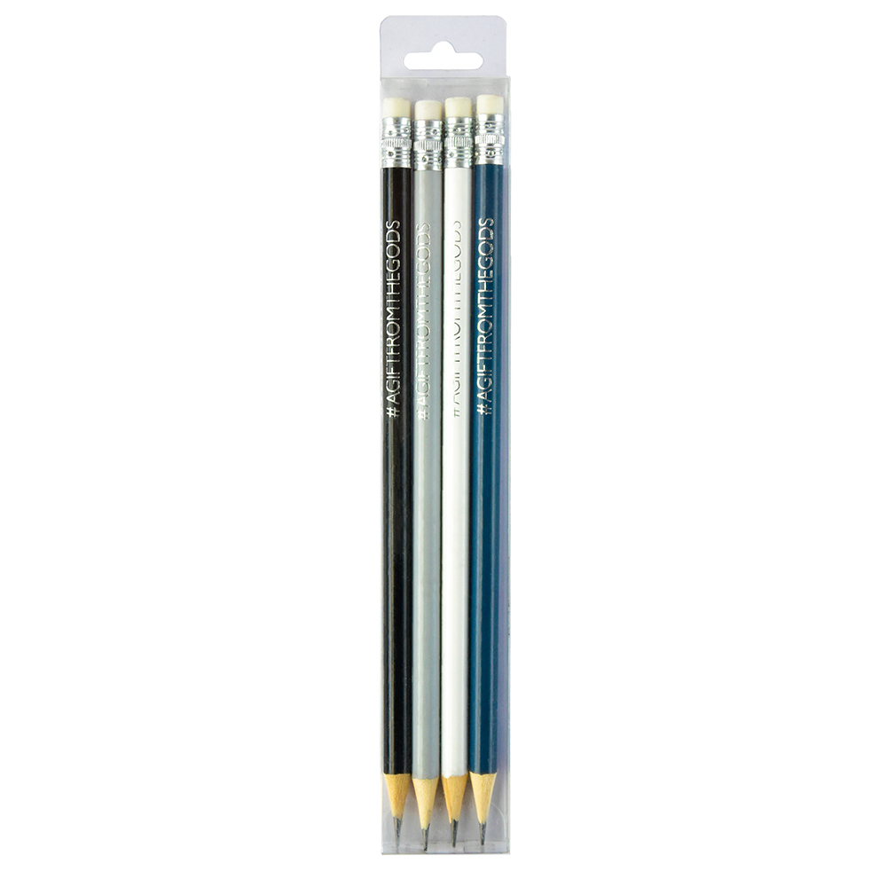 A Gift From The Gods Geo White Pencil Set Gift