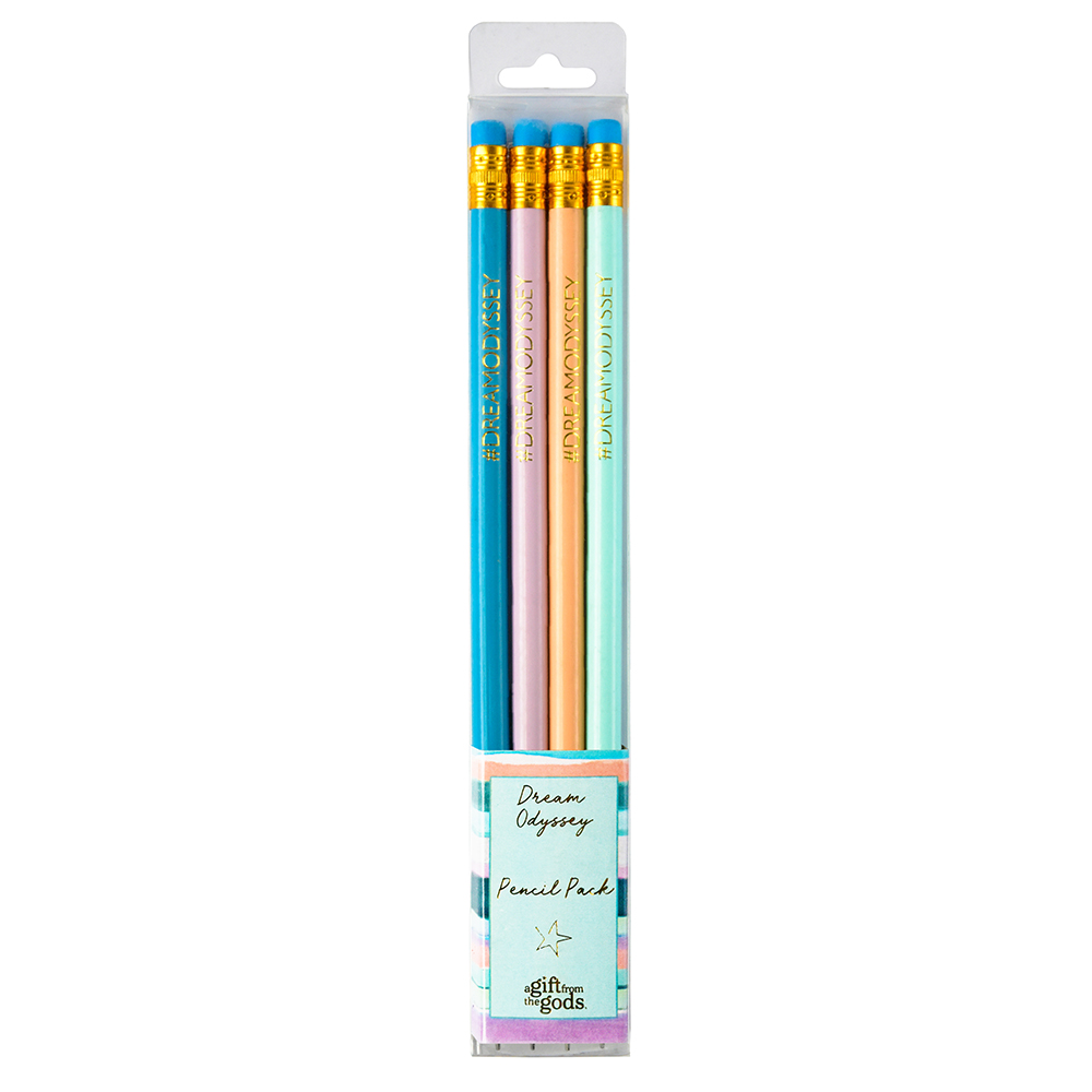 Dream Odyssey Stripe Aqua Pencil Set Gift