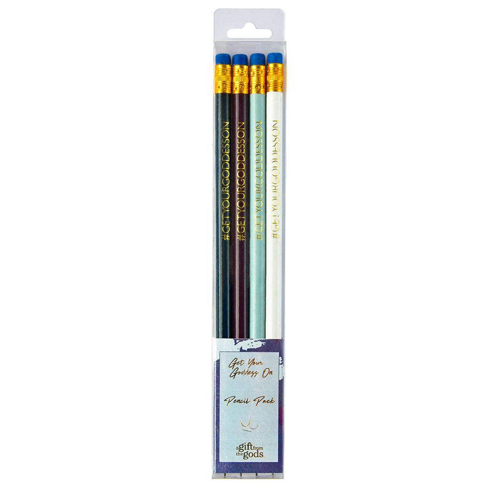 Get Your Goddess On Graffiti Blue Pencil Set Gift