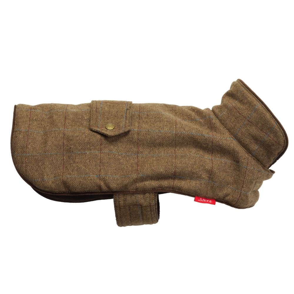 House Of Paws Brown Tweed Dog Jacket Medium Gift