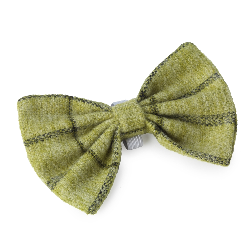 House Of Paws Green Tweed Dog Bow Tie Gift