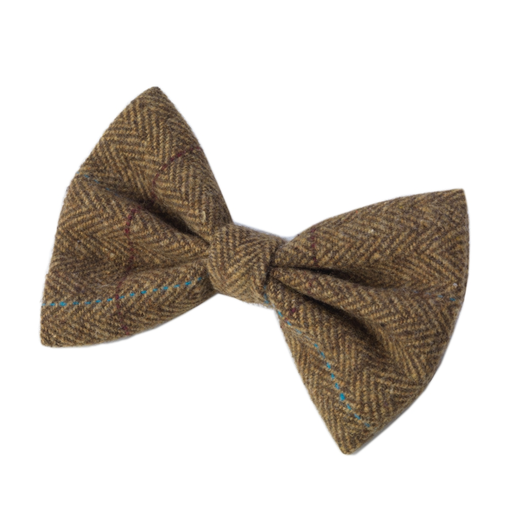 House Of Paws Brown Tweed Dog Bow Tie Gift
