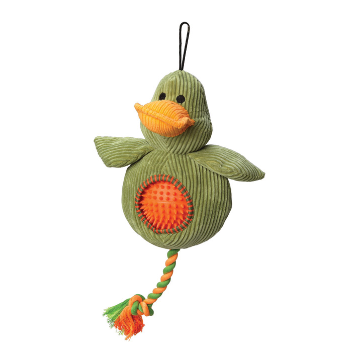 House Of Paws Duck Cord Toy With Spiky Ball Gift