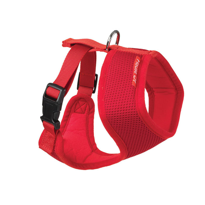 House Of Paws Memory Soft Harness Red M Gift