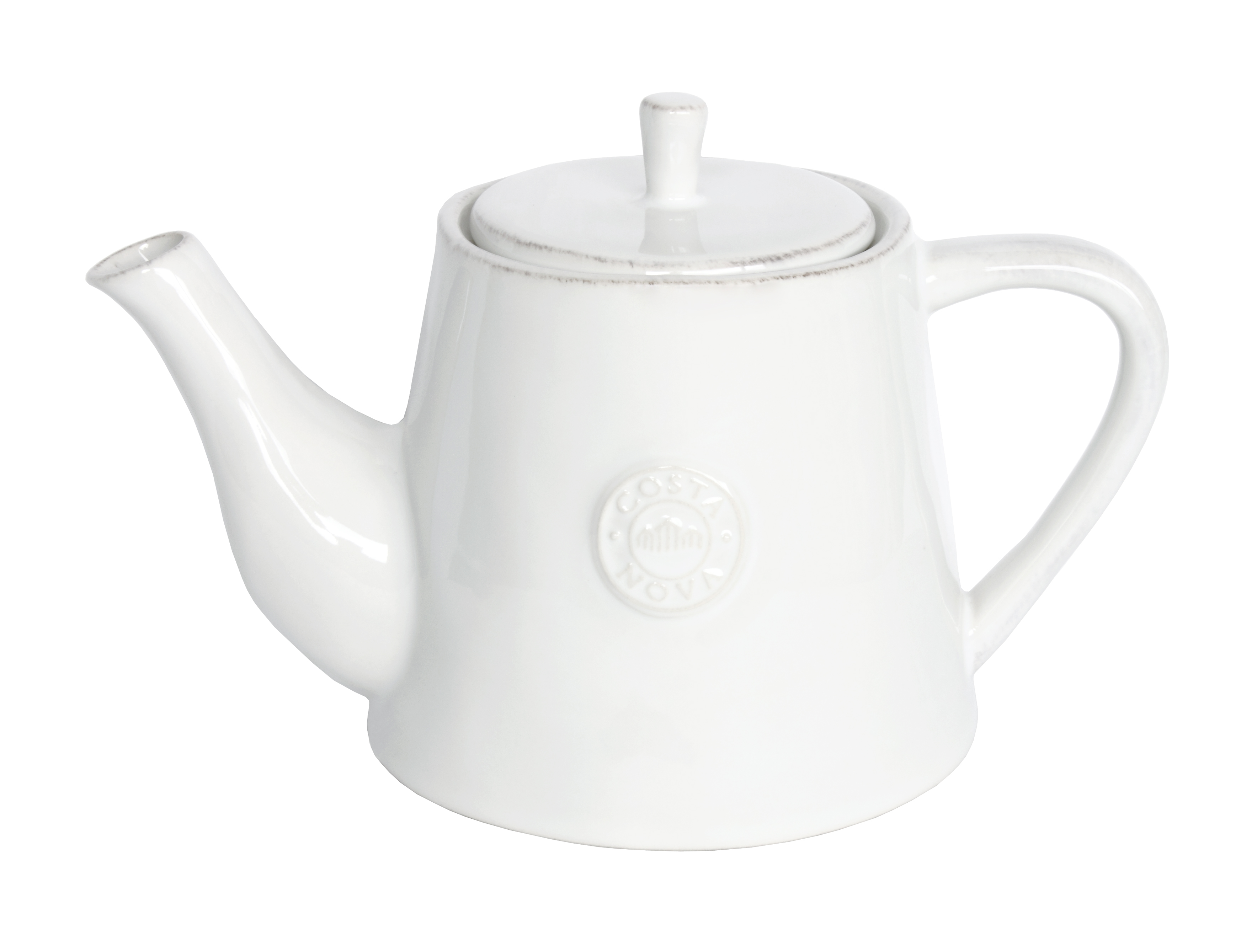 Nova White Tea Pot Large 1.08l Gift