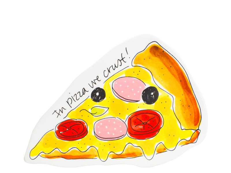 Blond Snack 3d Plate Pizza 14.5 X 22 Cm Gift